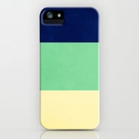 South Pacific Colorblock Stripes iPhone & iPod Case by CMcDonald