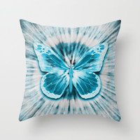Rising Butterfly Throw Pillow by Octavia Soldani
