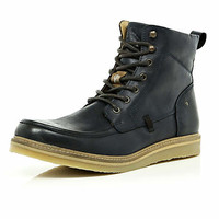Blue black Holloway Road heritage boots