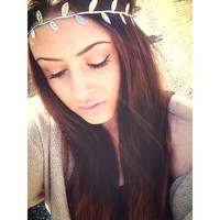 grecian goddess || SILVER or gold leaf halo headband|| newborn-adult
