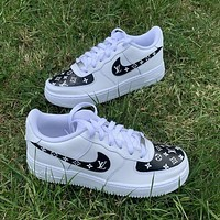 Nike x Louis Vuitton LV Air Force No. 1 Fashion men and women low-top casual sneakers 2 Shoes