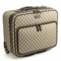 Gucci Carry-On Trolley GG Supreme Leather Luggage Wheels 246459