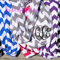 Chevron Infinity Scarf May add Monogram