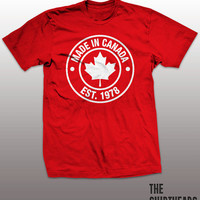 Made in Canada T-shirt - oh canada, toronto blue jays, montreal canadians, maple leafs, proud to be, men, women, gift, beaver,  tim, hortons