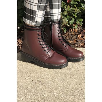 Doc Inspired Boots- Burgundy