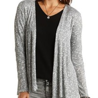 Lace Back Marled Cardigan by Charlotte Russe