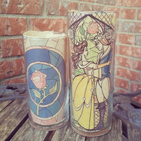 Beauty and the Beast inspired candle Holder, Rose candle holder