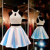 Two Pieces Homecoming Dress Short Party Gown pst0839