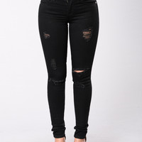 Taste My Words Jeans - Black