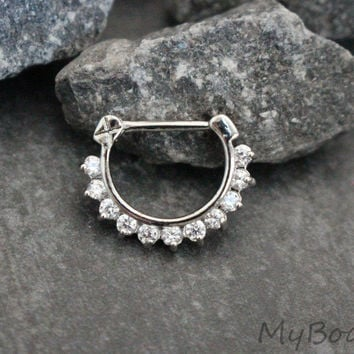 Crystal Clicker in Silver