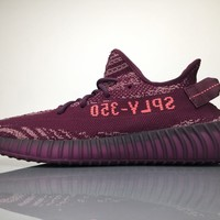 Adidas Yeezy Boost 350 V2 Popular Unisex Personality Sport Running Shoe Sneakers Purple I