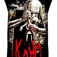 KORN Rock Band Music Metal T Shirt Tank Top Singlet Vest Sleevless One Size Fits All