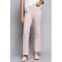 Cosmos Cable Knit Pants - Peach
