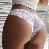 Sexy Panties Women Lace Low-waist Briefs Female Breathable Embroidery Underwear Transparent G String Underpant Lingerie