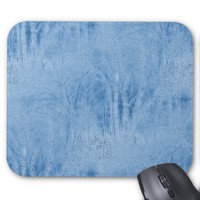 Hazy Blue Woods at Night Mousepad