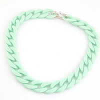 Fun Chain Necklace - Mint