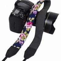 Navy Floral  Camera Strap Photographers Gift - CAST46