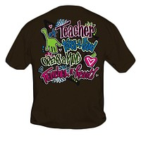 Sweet Thing Funny Teacher Take A Hand Teach Girlie Brown Bright T-Shirt