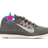 Crystal Gray Women's Nike Zoom Winflo 5 Running Shoes