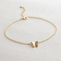 Butterfly bracelet gold or silver butterfly by OliveYewJewels