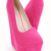 Fuchsia Faux Suede Closed Toe Platform Pump Wedges @ Amiclubwear Wedges Shoes Store:Wedge Shoes,Wedge Boots,Wedge Heels,Wedge Sandals,Dress Shoes,Summer Shoes,Spring Shoes,Prom Shoes,Women's Wedge Shoes,Wedge Platforms Shoes,floral wedges,Fashion Wedge Sh