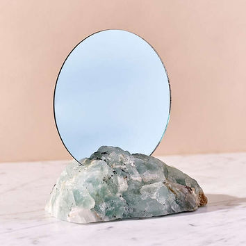 Another Human X UO Natural Crystal Mirror   Urban Outfitters