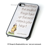 Disney Winnie The Pooh Quotes iPhone 4 4S 5 5S 5C 6 6 Plus , iPod 4 5  , Samsung Galaxy S3 S4 S5 Note 3 Note 4 , and HTC One X M7 M8 Case