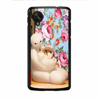 Big Hero 6 Baymax Floral Disney Nexus 5 Case