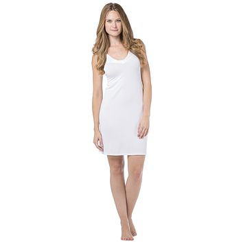Women's Essential V-Neck Microfiber Nightgown Chemise