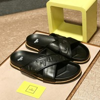FENDI  Men Fashion Slipper Sandals Flats Shoes