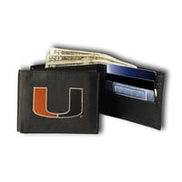 Miami Hurricanes NCAA Embroidered Trifold Wallet