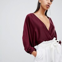 Parallel Lines satin blouse at asos.com