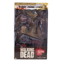 McFarlane Toys The Walking Dead TV: Bloody Black and White Zombie, 3 Pack
