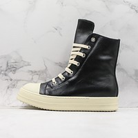 Rick Owens DRKSHDW Scarpe Black White Leather Sneaker
