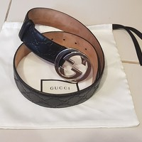 Authentic Original Men's Gucci Belt GG 80cm - Pre owned, not used, unwanted gift