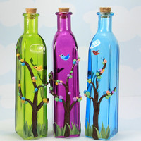 Glass Bottles Designed by HeathersWilde Set of 3