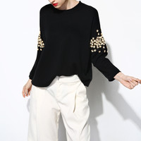 Little Daisy Embroidery Knit Sweater TP0104