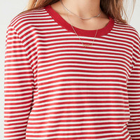 Truly Madly Deeply Striped Long Sleeve Tee | Urban Outfitters