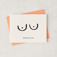 Dahlia Press You're The Tits Card | Urban Outfitters