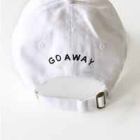 Go Away Cap - White
