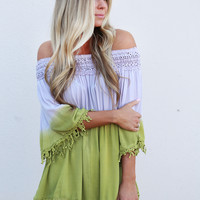Dip Dye Off-the-Shoulder Top