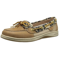 Sperry Womens Angelfish Leather Leopard Print Boat Shoes