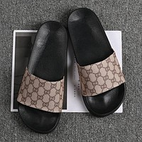 GG double G flip flops for men and women fashion personality sandals shoes