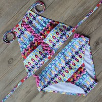 Print  Bandage Bikini Bathing Suit Swimsuit