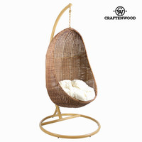 Rocking chair with white cushion by Craften Wood