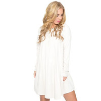 Bow Down Shift Dress In Ivory