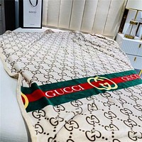 Dior GG Suede Air Conditioning Blanket Single High-end Gift Box Blanket