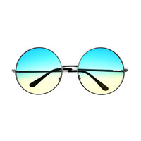Extra Large Oversized Womens Metal Circle Round Sunglasses R2470