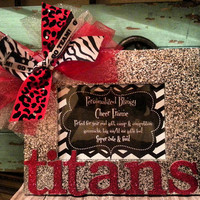 Personalized Custom Cheer Team Blingy Picture Frame