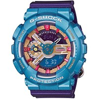 Casio G-Shock S Series - Multi-Color Blast - World Time - Anti-Magnetic - 200m